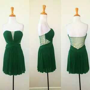 Emerald Green A line cocktail dress NWOT Sz4